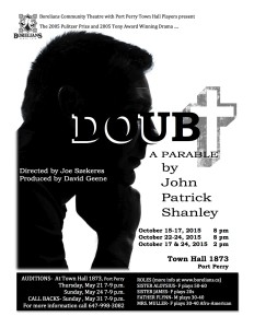 Doubt poster for auditions